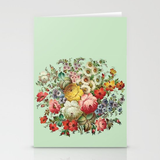 Russian Flowers Stationery Cards