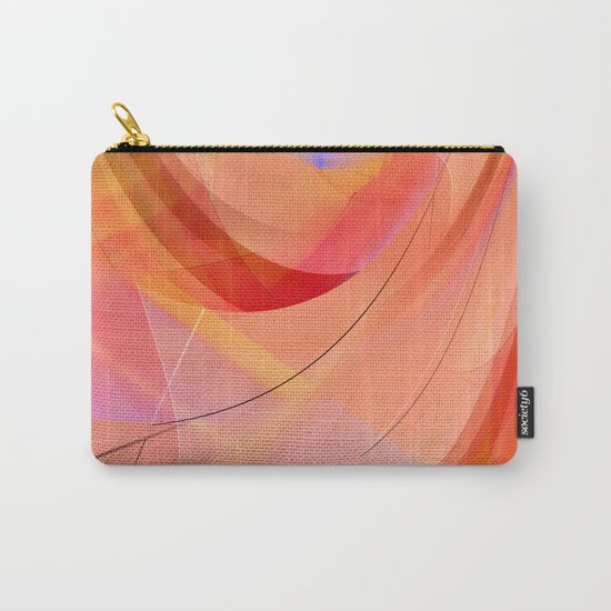 pattern orange abstract no. 3 Carry-All Pouch