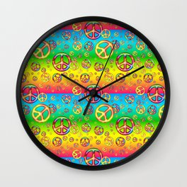 Crazy Kids Colors, Peace Out Wall Clock