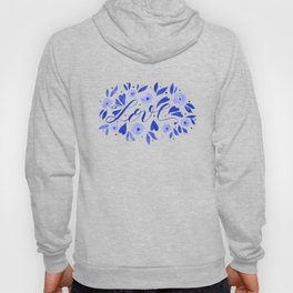 Love and flowers - electric blue Hoody