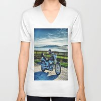 middle earth V-neck T-shirts featuring Harley Davidson, Middle Earth Edition. by Bodhikai Imagery | Pacific Northwest Tra