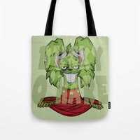 bucky Tote Bags featuring Bucky by Twisted Dredz