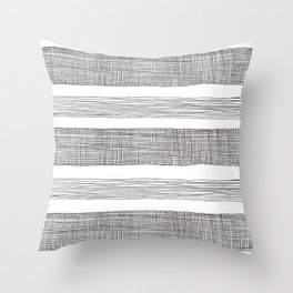 simple crosshatch stripes Throw Pillow