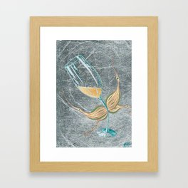 Cheeky Bubbly Fairy Framed Art Print
