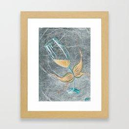 Cheeky Bubbly Fairy Framed Art Print