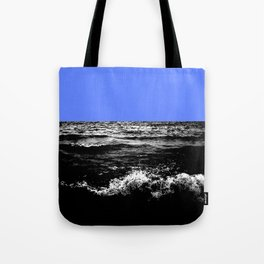 Black Wave w/Light Blue Horizon Tote Bag