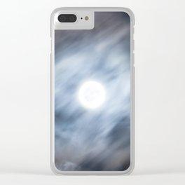 La Lune est Pleine Clear iPhone Case