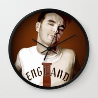 smiths Wall Clocks featuring The Smiths singer by Studio Caro △