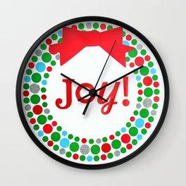 Joy Wreath Wall Clock