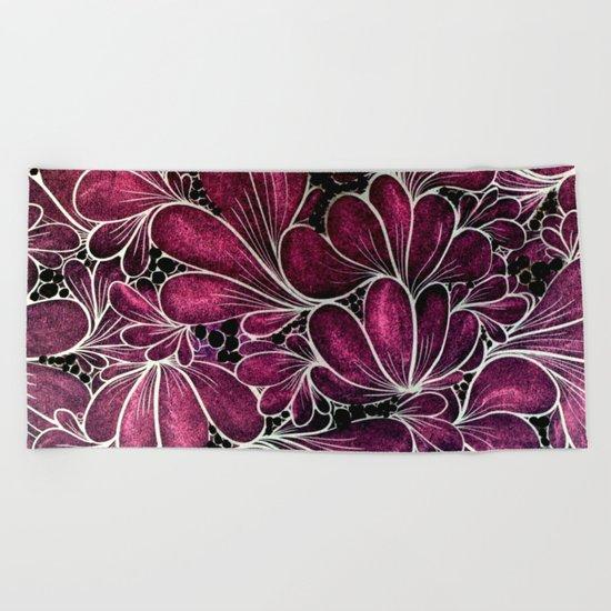 Funny Flowers Beach Towel