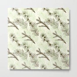 Christmas tree pattern. Metal Print