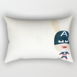 We are all rabbits \ Captain America  Rectangular Pillow