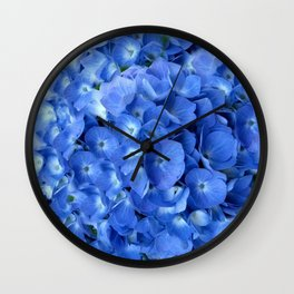 Gorgeous Baby Blue Hydrangeas  Floral Art Wall Clock