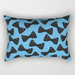 Bow Pattern - Gothic Blue Rectangular Pillow