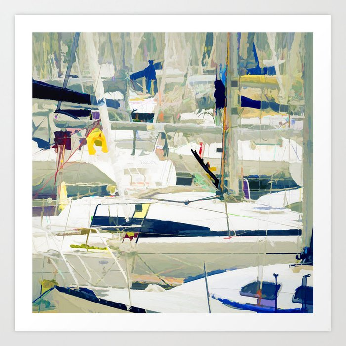Harbour in the Bretagne Art Print