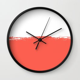 Dipped in Coral Wall Clock