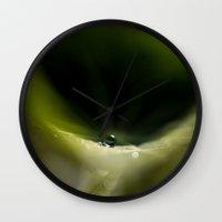 leaf Wall Clocks featuring leaf  by Ingrid Beddoes