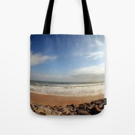 Fisheye Beach (Film) Tote Bag