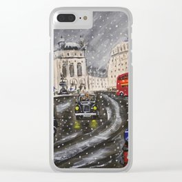 Buses and Taxis Clear iPhone Case