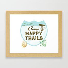 Retro Camping Framed Art Print
