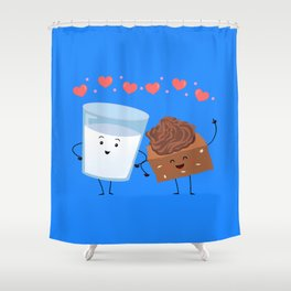Brownie's BFF Shower Curtain
