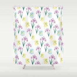 Scent of Irises Shower Curtain