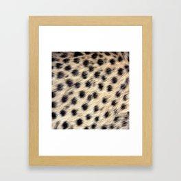 Cheetah Pattern Style Framed Art Print
