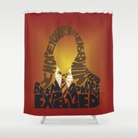 hermione Shower Curtains featuring Hermione by Rebecca McGoran