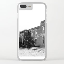 Train and Sherwood Hotel Clear iPhone Case
