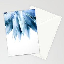 Agave geo fringe - blue Stationery Cards