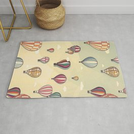 hot air balloon Rug