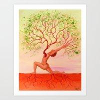 Anjaneyasana Art Print