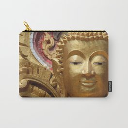 Buddha Head Illustration Design gold Carry-All Pouch