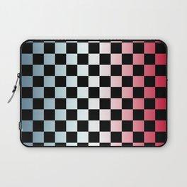Red White Blue Gradient Checker Laptop Sleeve