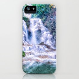 Digital Painting - Kuang Si Falls iPhone Case
