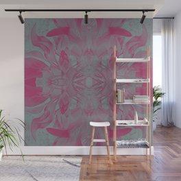 Feminine Devine in Fuchsia Pink and Powder Mint Wall Mural