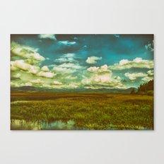 Flower Lake Canvas Print