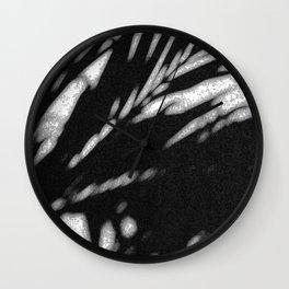 leaf shadow Wall Clock