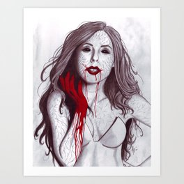 Love like Blood Art Print