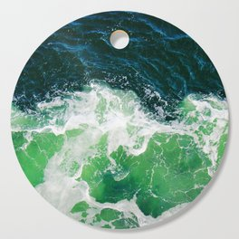 Green Ocean Waves Cutting Board