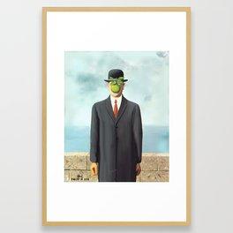 The Apple man Framed Art Print