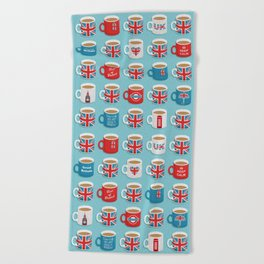 A Very British Brew Beach Towel