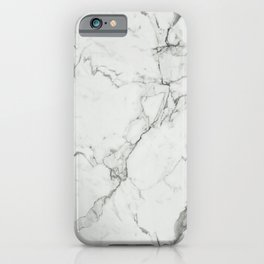 White Marble Texture. iPhone Case