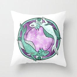 Pisces Dragon || Dragon Zodiac Series Throw Pillow