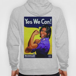 """""""Recovery.gov"""", Michelle Obama as Rosie the riveter. Hoody"""