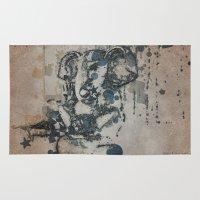 ganesha Area & Throw Rugs featuring Ganesha by Barbara Storey Digital Art
