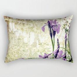 Purple Irises Rectangular Pillow