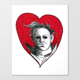 Micheal Myers (All Heart) Canvas Print