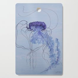 Blue Jellyfish 10 Cutting Board