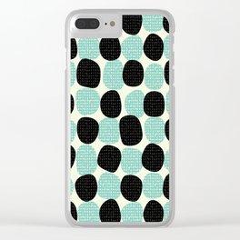 Random dots pattern Clear iPhone Case